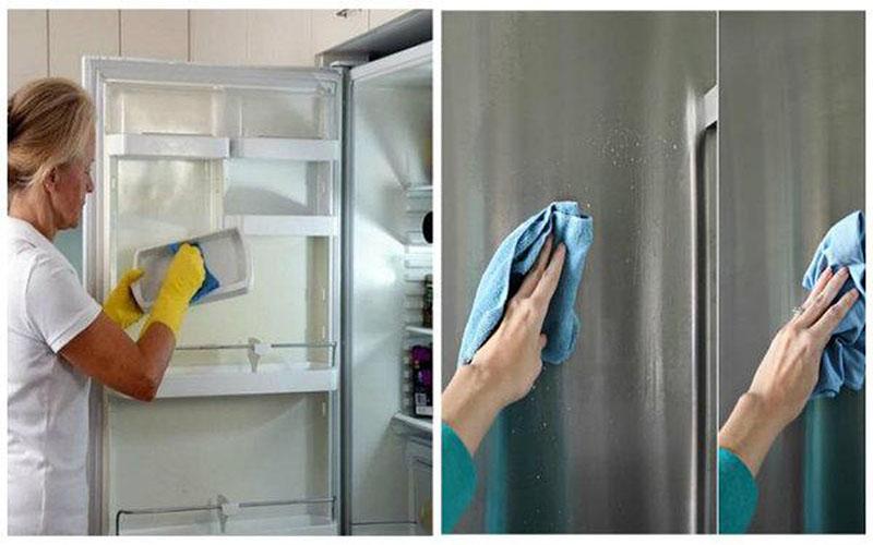 Không thường xuyên vệ sinh tủ lạnh