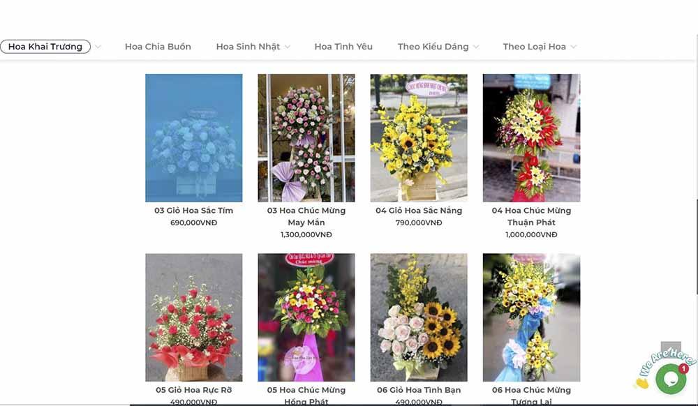 Đặt hoa tươi Tp Hồ Chí Minh online